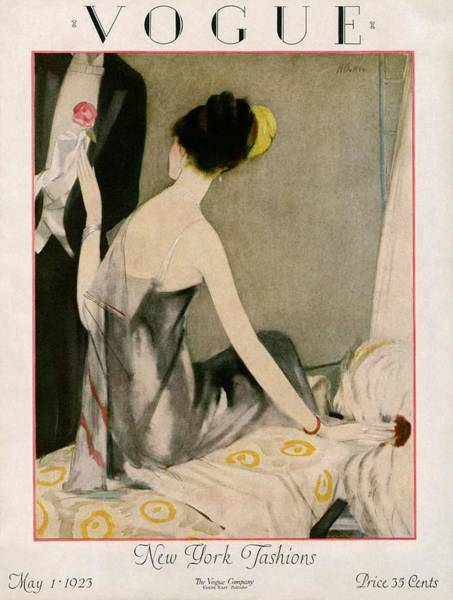 1923 Photograph - A Vogue Magazine Cover Of A Woman by Henry R. Sutter