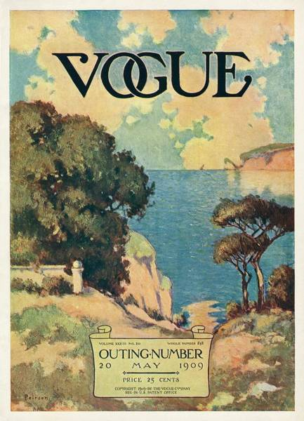 Ocean Photograph - A Vogue Magazine Cover Of Trees by David Peirson