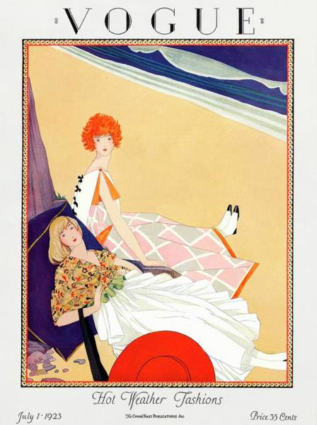 1923 Photograph - A Vogue Magazine Cover Of Two Women by George Wolfe Plank