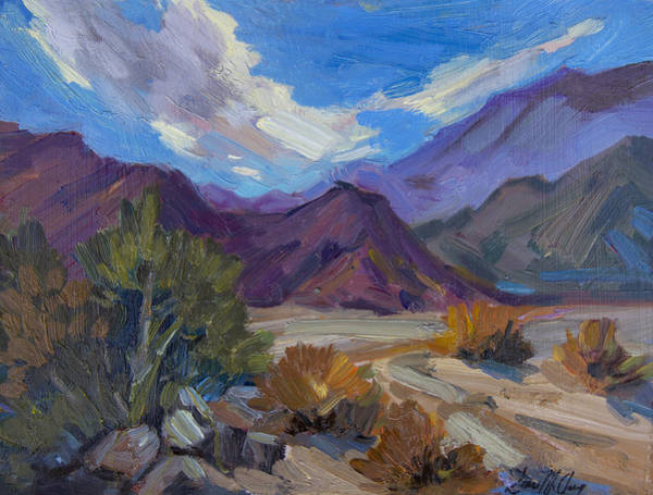 Wall Art - Painting - A Walk In La Quinta Cove 1 by Diane McClary