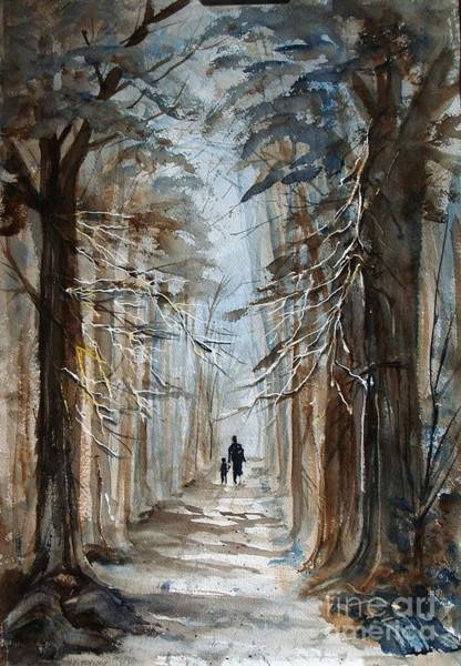 Painting - A Walk In The Woods by Gerald Miraldi