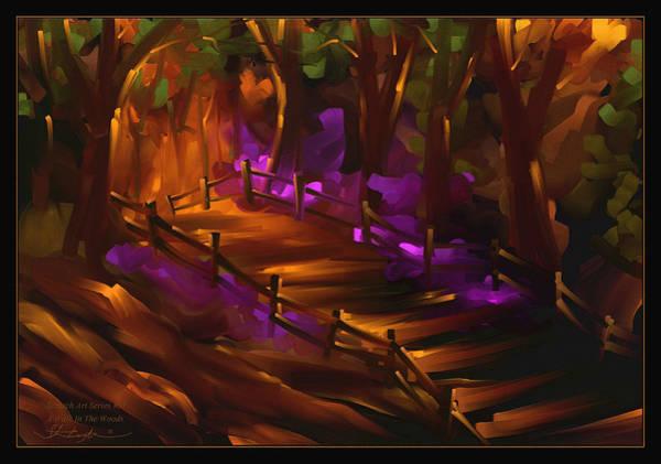 Wall Art - Painting - A Walk In The Woods - Scratch Art Series - #51 by Steven Lebron Langston