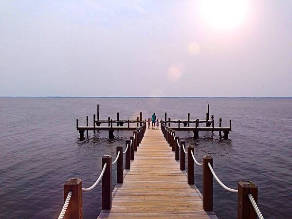 Photograph - A Walk On The Dock by Chris Montcalmo