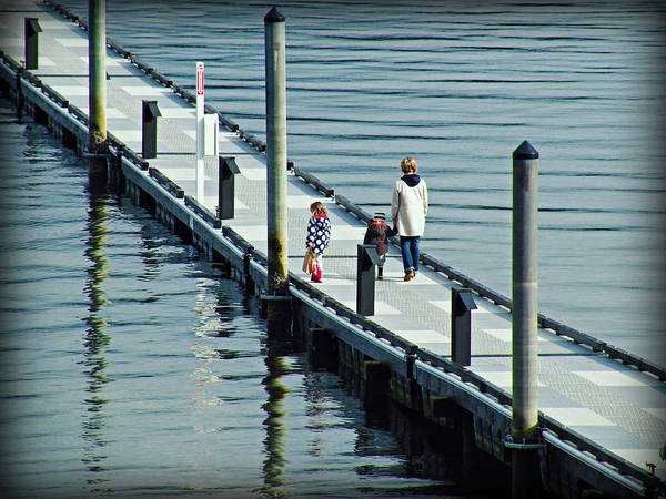 Photograph - A Walk On The Pier by Micki Findlay