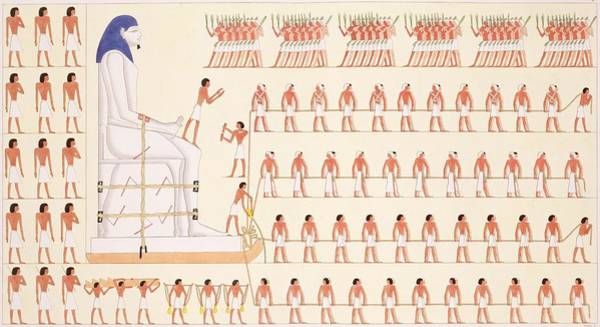 Egypt Drawing - A Wall Painting At Beni Hasan Depicting by Frederic Cailliaud