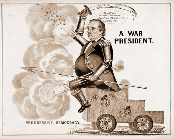 Destiny Drawing - A War President. Progressive Democracy N. Currier Firm by Litz Collection
