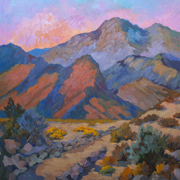 La Quinta Wall Art - Painting - A Warm Spring Walk In The Cove by Diane McClary