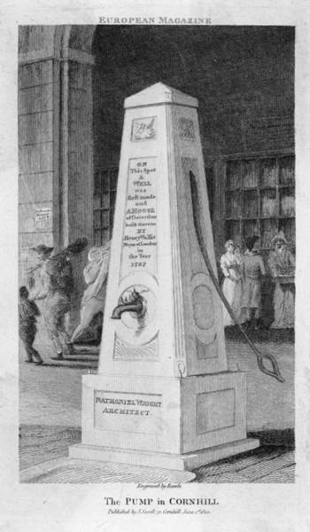 Wall Art - Drawing - A Water Pump (designed By  Architect by Mary Evans Picture Library