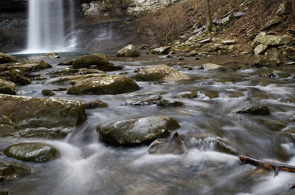 Cloudland Canyon Photograph - A Waterfall Feeds A Clear Mountain by Andrew Kornylak