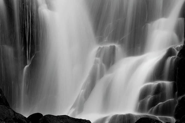 Killarney Photograph - A Waterfall Flowing Down A Cliff Face by Mint Images - Art Wolfe