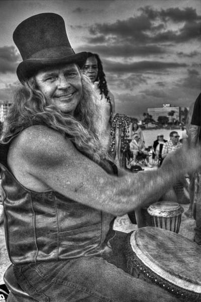 Drum Circle Wall Art - Photograph - A Wavy Gravy Kind Of Guy by William Fields