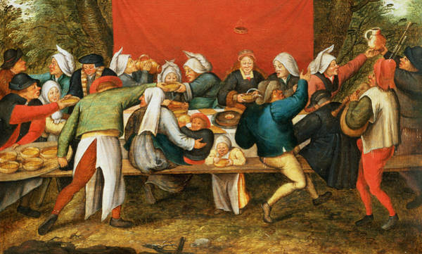 Bagpipe Wall Art - Photograph - A Wedding Feast Panel by Pieter the Younger Brueghel