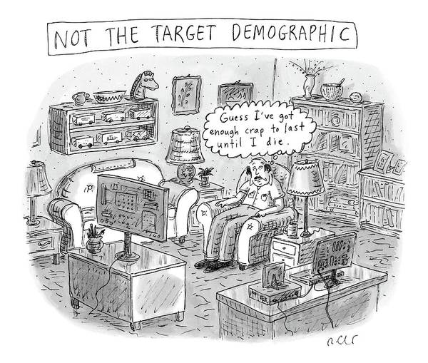 Target Drawing - A White, Middle-aged Male Is Deemed: by Roz Chast