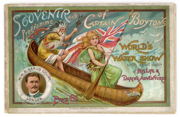 Brochure Drawing - A Wild West Show On Water - by Mary Evans Picture Library