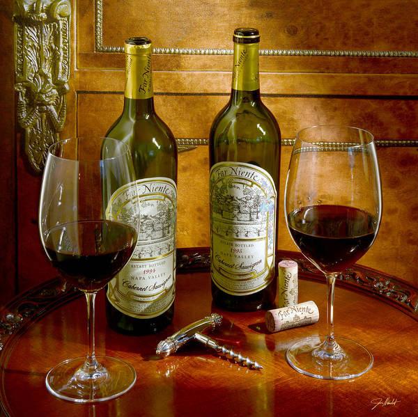 Vintage Wine Photograph - A Win Win Situation by Jon Neidert