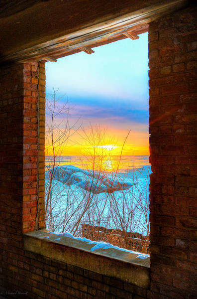 Photograph - A Window To Lake Michigan  by Michael  Bennett