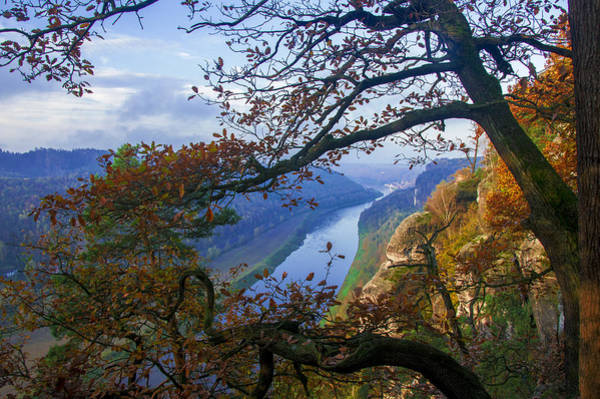 A Window To The Elbe In The Saxon Switzerland Art Print