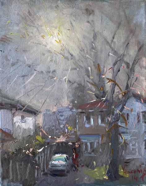 Hazy Wall Art - Painting - A Hazy Winter Day by Ylli Haruni