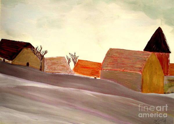 Barn Snow Painting - A Winter Morning by Bill OConnor
