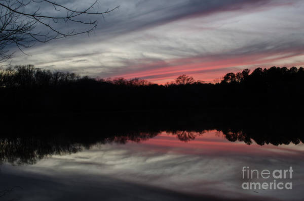 Lake Juliette Photograph - A Christmas Winter Sunset by Donna Brown