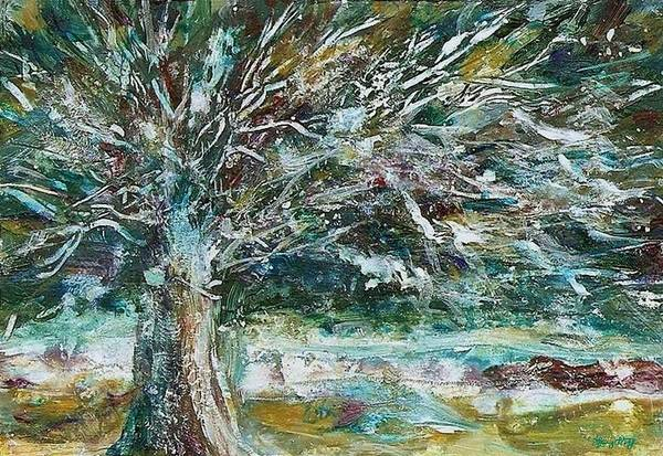 Painting - A Winter Tree by Mary Wolf