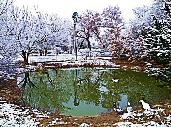 Digital Art - A Winters Pond by The GYPSY