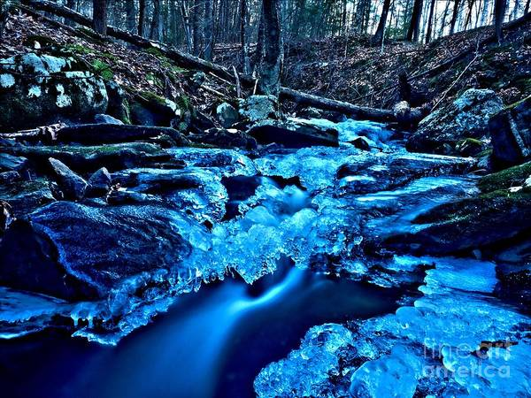 Wall Art - Photograph - A Winters Stream by Frank Piercy
