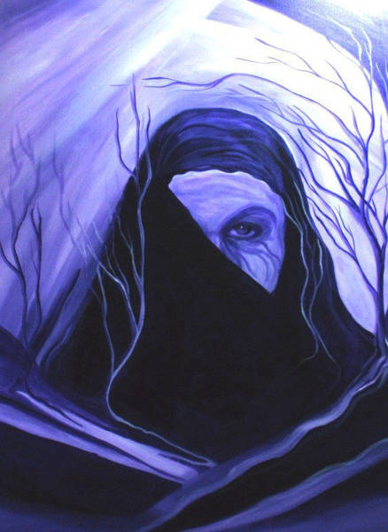 Crone Wall Art - Painting - A Witch In Winter by Carolyn LeGrand