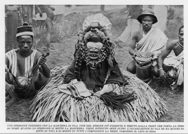 Wall Art - Photograph - A Witchdoctor Of Southern  Africa by Mary Evans Picture Library