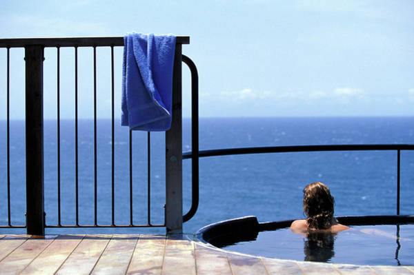 Wall Art - Photograph - A Woman In A Hot Spring By The Ocean by Corey Rich