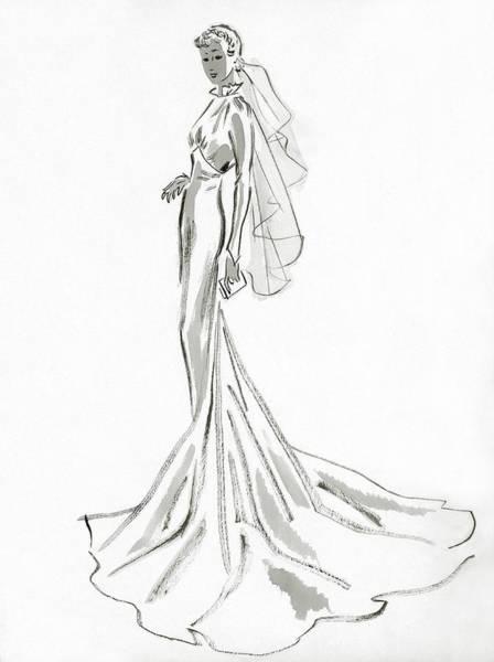 Wealth Digital Art - A Woman In A Wedding Dress by William Bolin