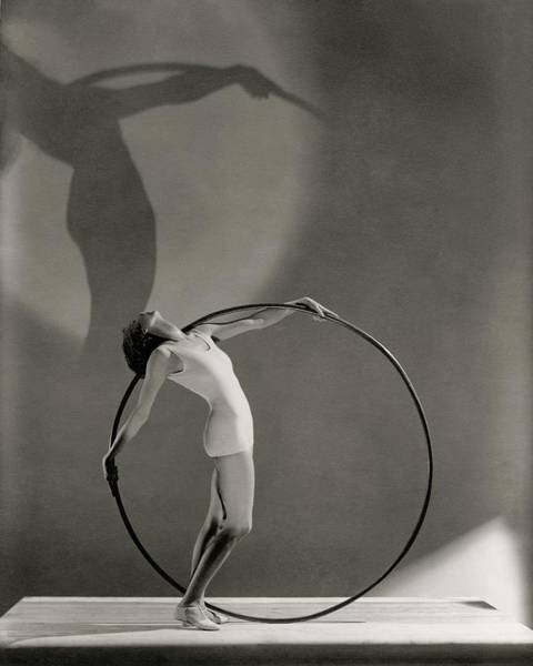 Sports Clothing Photograph - A Woman Posing With A Hula Hoop by George Hoyningen-Huene