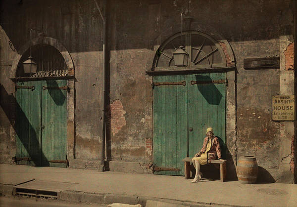 Wall Art - Photograph - A Woman Sits Outside The Doorway by Edwin L. Wisherd