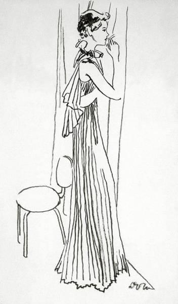 A Woman Smoking Art Print by Abrams