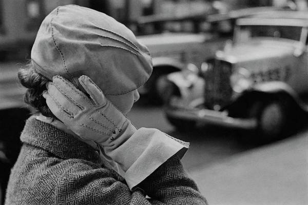 Photograph - A Woman Wearing A Beret And Gloves by Remie Lohse