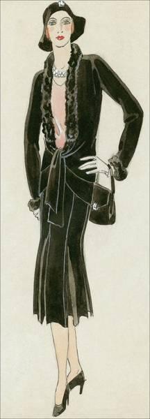 Wall Art - Digital Art - A Woman Wearing A Black Suit by David