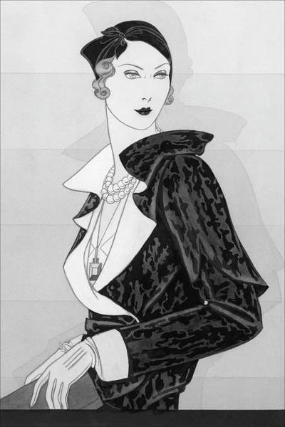 Necklace Digital Art - A Woman Wearing A Cap By Marie-alphonsine by Douglas Pollard