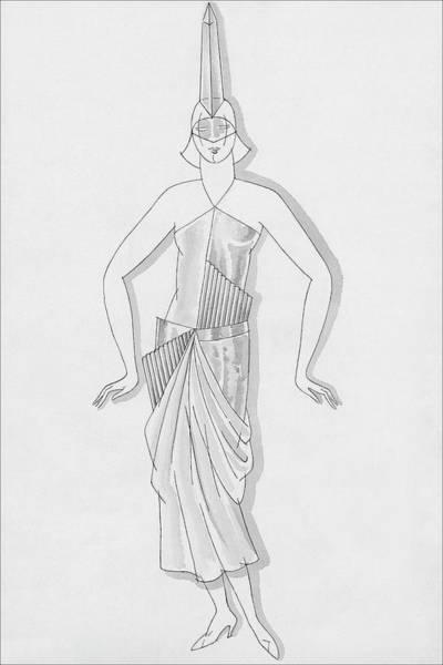 December 19th Digital Art - A Woman Wearing A Costume by Robert E. Locher