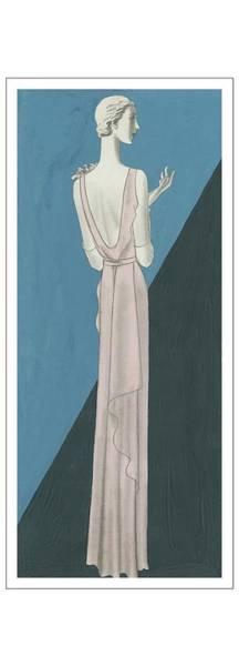 Wall Art - Digital Art - A Woman Wearing A Gown By Mainbocher by Eduardo Garcia Benito
