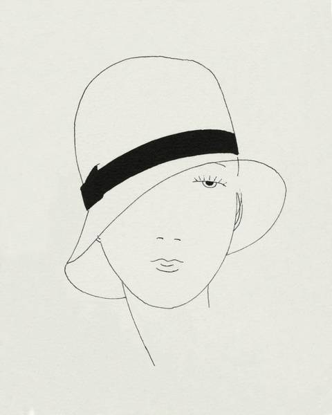 A Woman Wearing A Hat Art Print