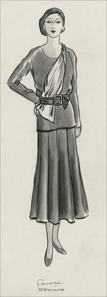 Lanvin Digital Art - A Woman Wearing A Lanvin Dress by Creelman
