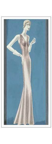 Wall Art - Digital Art - A Woman Wearing A Mainbocher Evening Gown by Eduardo Garcia Benito