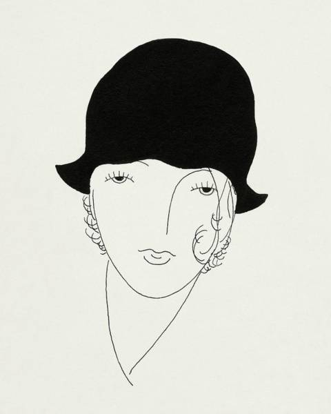 Headgear Digital Art - A Woman Wearing A Poorly Fitted Hat by Jean Pages