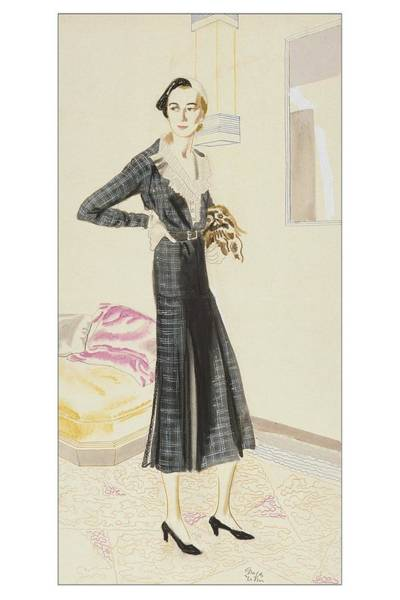 A Woman Wearing A Saks-fifth Avenue Suit Art Print