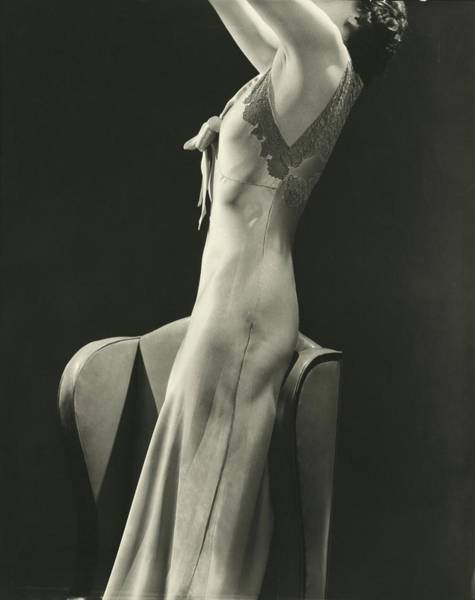 Photograph - A Woman Wearing A Satin Gown by Lusha Nelson