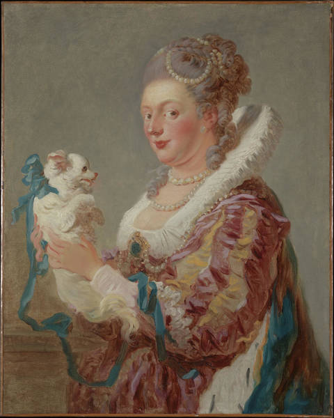 Honor Painting - A Woman With A Dog by Jean Honor� Fragonard