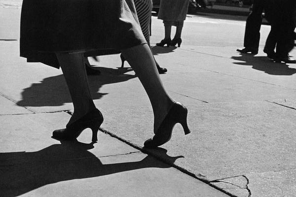 Footpath Photograph - A Woman's Legs by Lusha Nelson
