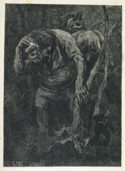 Folklore Drawing - A Woodcutter Keeps Prudently by Mary Evans Picture Library