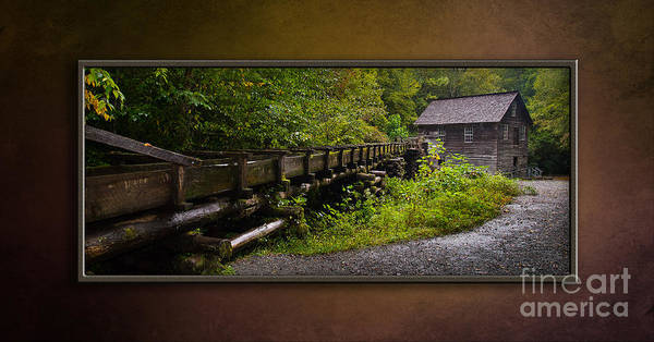 Mingus Mill Photograph - A Working Grist Mill-matted by Cindy Tiefenbrunn