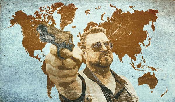 The Dude Wall Art - Digital Art - A World Of Pain by Filippo B